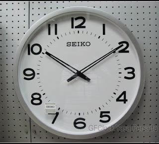 jam dinding sakana putih chrome diameter 40cm melodi per jam 1 seiko original