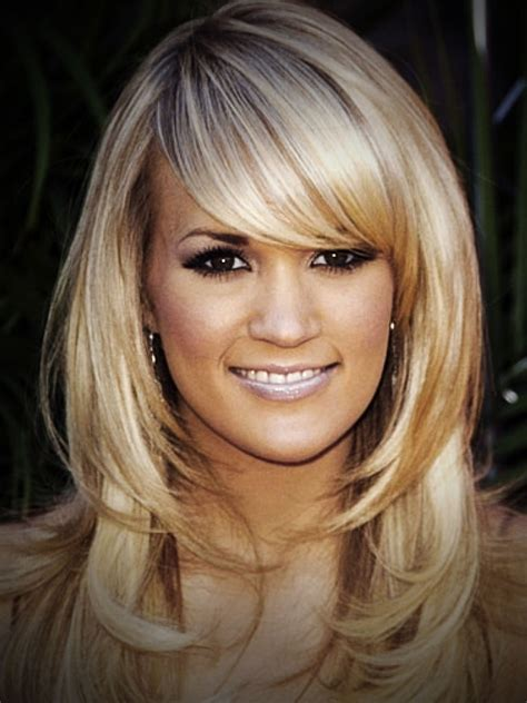 Medium Length Hairstyles With Bangs And Layers by Medium Length Hairstyles With Layers And Side Swept Bangs