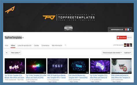 أربعة قنوات على اليوتوب لتحميل ما تشاءه من مقدمات احترافية لفيديوهاتك Ti9nifour Top Free Templates