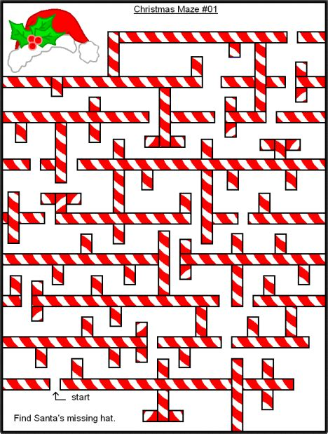 printable holiday mazes free christmas themed mazes coloring pages word search fun
