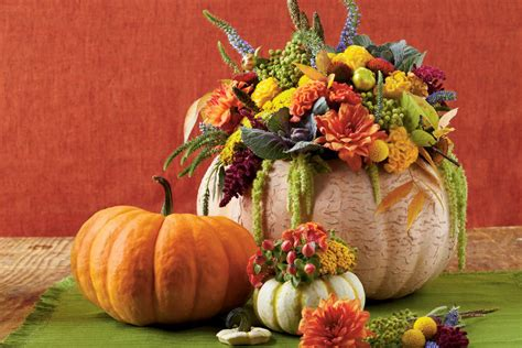 southern living fall decorating ideas pumpkin flower vase fall decorating ideas southern living