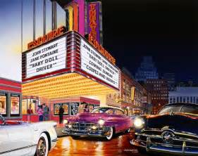 The Cadillac Theater Paintings Of 1950s Cars And Trucks Bruce Kaiser Car