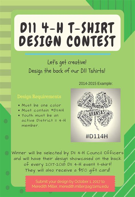 design contest h m 17 18 tshirt contest flyer district 11 4 h and youth
