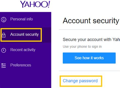 email yahoo change password step by step guide for resetting yahoo mail password