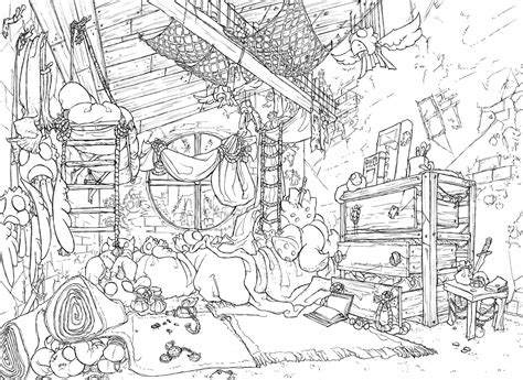 art room coloring page kakoil scai s room by fydbac on deviantart