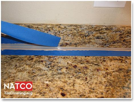 removing top after caulking granite countertop re