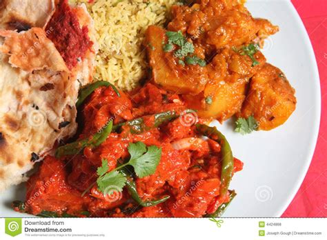 indian curry dinner indian curry dinner royalty free stock photos image 4424868