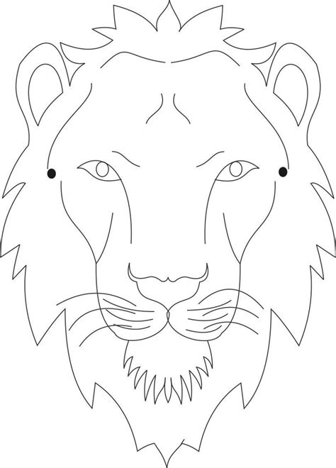 printable tiger mask template lion mask coloring page printable coloring pages