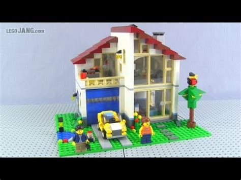 lego huis ontwerpen lego creator family house 31012 adv build review youtube