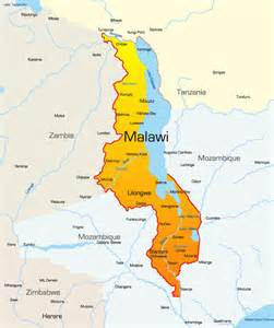 Malawi Africa Map by Malawi Map Showing Attractions Amp Accommodation
