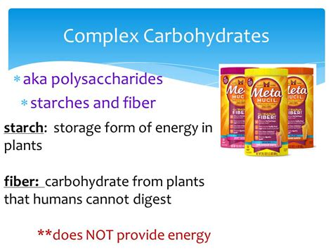 carbohydrates that provide energy chapter 6 getting and using nutrients ppt