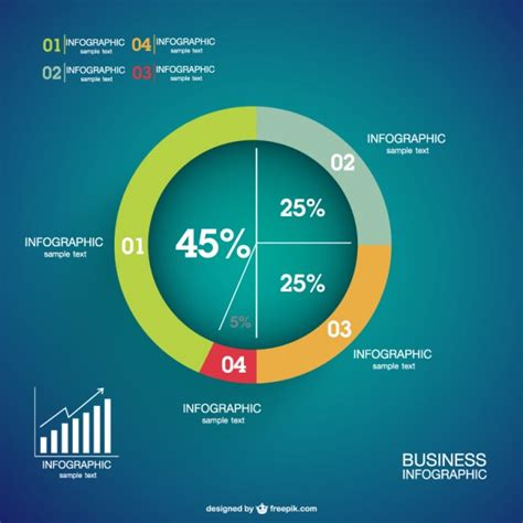 diagram with percentages infographics percentage pie chart vector free