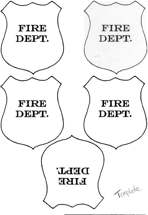 fireman hat template printable fireman hat template