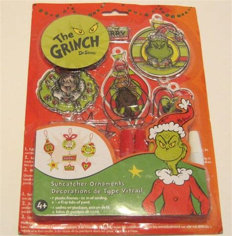 christmas grinch survival kit how the grinch dr seuss suncatcher ornament kit ebay listings