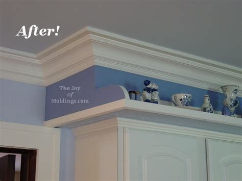 kitchen cabinet crown molding before after thediapercake the joy of molding joy studio design gallery best design