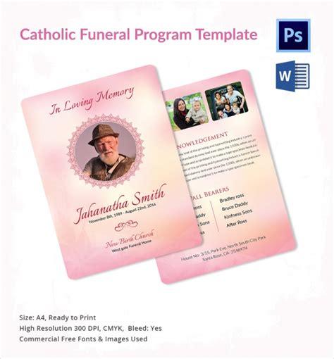 13 Sle Catholic Funeral Program Templates Sle Templates Catholic Program Template