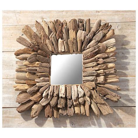 driftwood wall mirror 423876 decorative