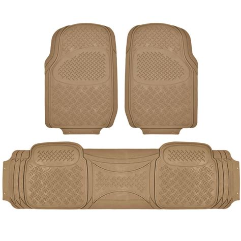 suv floor mat for 3 row car all weather beige trimmable