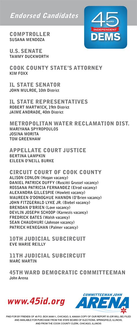 patrick duffy union county il our endorsed candidates 45th ward independent democrats