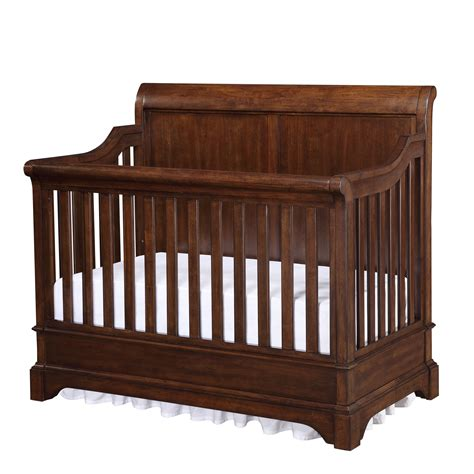 Bertini Pembrooke 4 In 1 Convertible Crib Dark Walnut Walnut Baby Crib