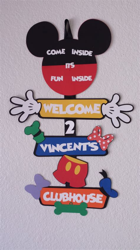 Mickey Mouse Door by Mickey Mouse Clubhouse Door Signmickey Mouse Birthday