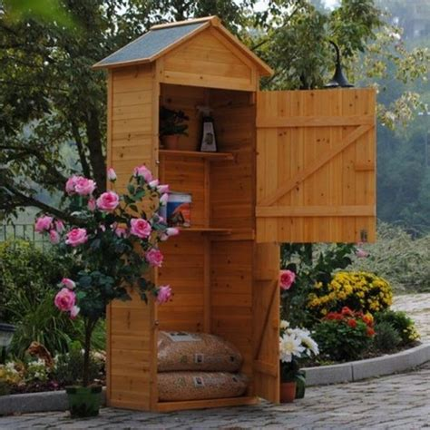 armadi da giardino in legno armadio in legno da esterno porta attrezzi per giardino e