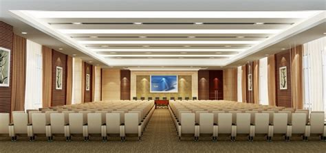 seminar hall layout wooden panelling with fabric designs for conference hall