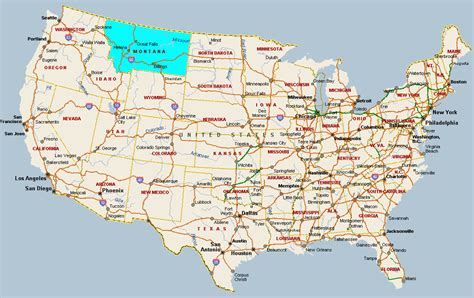 a map montana map usa toursmaps
