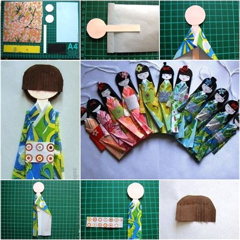 Japanese Paper Crafts - how to make traditional japanese paper doll fab diy