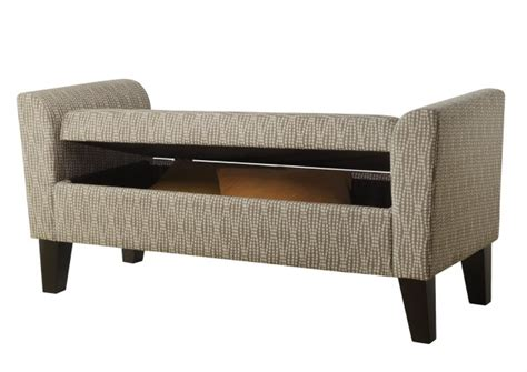 rolled arm storage bench rolled arm bench slipcover home design ideas