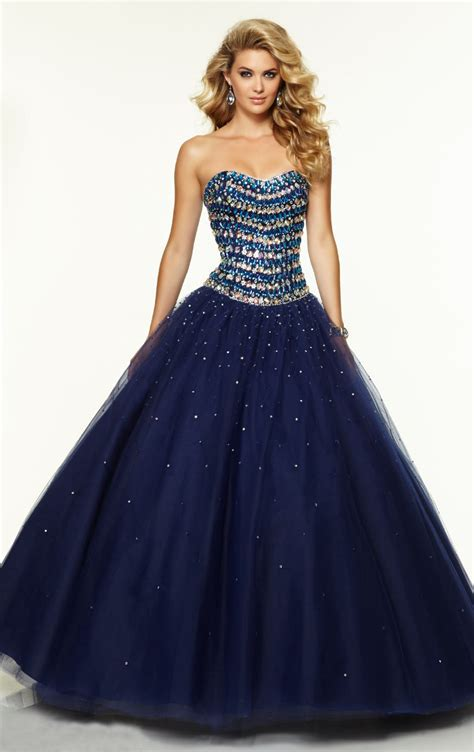 navy blue ball gown prom dress navy blue ball gown crystal sequined long evening dress