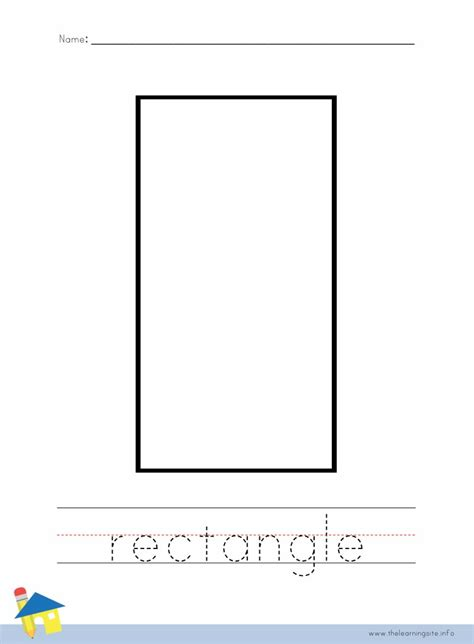printable rectangle shapes free coloring pages of rectangle shape