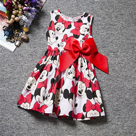 Dres Printing princess baby dress minnie mouse dress printing dot