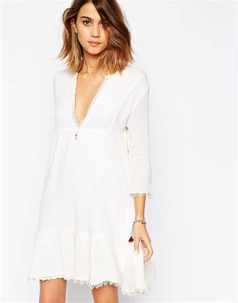Asos Robe Blanche Courte - ba sh aretha robe bord 233 e de dentelle robe blanche