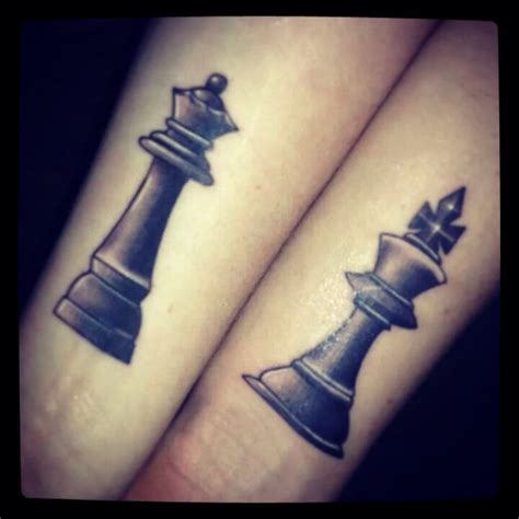 king and queen chess pieces tattoo designs 32 images pictures and design ideas