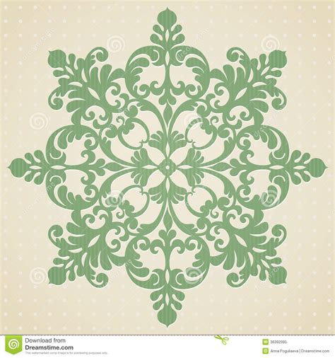 Printable Ornament Template Card Stock by Ornament Pattern In Style Stock Vector
