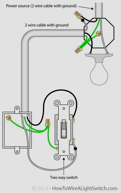 switch  power source  light fixture