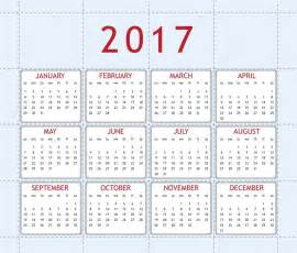 Current Calendar Year Calendar For Year 2017 Stock Photo 36666703