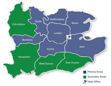 and home counties map map