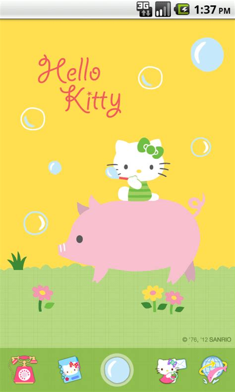 hello kitty themes app store hello kitty bubble theme android apps on google play