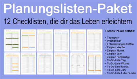 Wochenplan Haushalt Familie 4630 by Planung Ist Alles 12 Checklisten Die Dir Das Leben