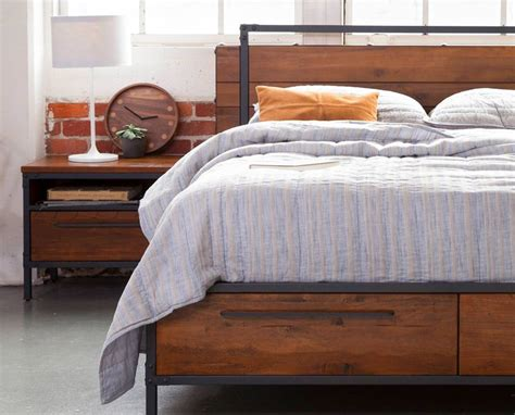 dania bedroom furniture dania the insigna bed mixes expert craftsmanship with rustic charm made from solid american