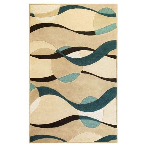 5x5 rugs home depot nourison oasis blue 8 ft x 10 ft 6 in area rug 002174 the home depot