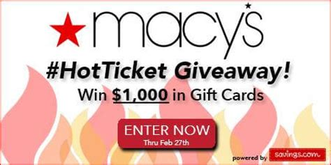Where Can I Use My Macy S Gift Card - savings com enter for a chance to win one of twenty 50 macy s gift cards