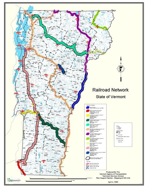us map vermont state vtrans map center