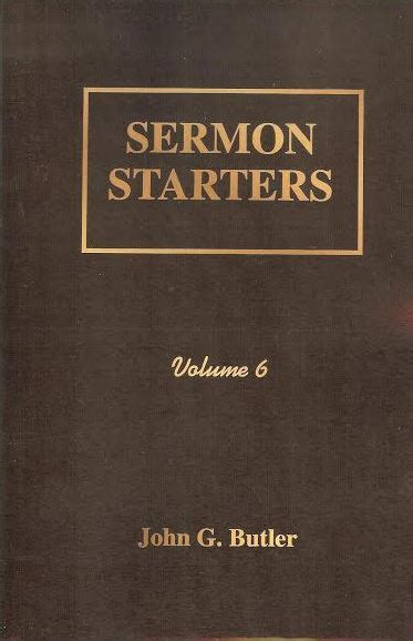 Alliterated Sermon Outlines By G Butler by Sermon Starters Volume 6 Paperback