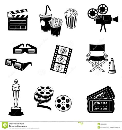 Icon Cinema Gift Card - cinema icons stock vector image 40858038