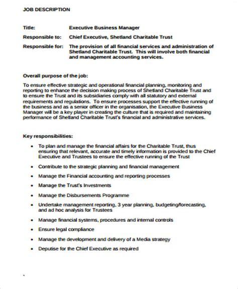 9 sle business manager descriptions sle templates