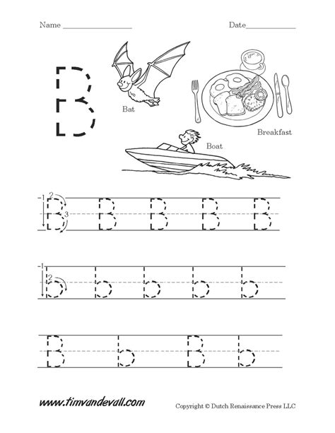 worksheets for preschool letter b letter b worksheet tim van de vall