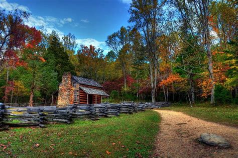 Smoky Mountain Cottages A Smoky Mountain Cabin Photograph By Mel Steinhauer